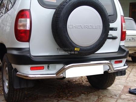 "Chevrolet Niva 2002-2008 г.в.-Защита заднего бампера d-53 ""волна"""